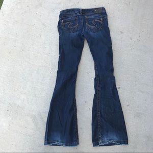 Silver Camden rose bell bottom dark wash jeans